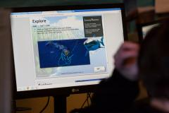 Student using the Ocean Tracks curriculum.