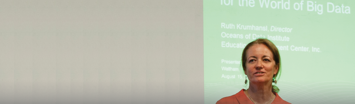 Ruth Krumhansl presenting