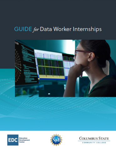 Report cover for the Guide for Data Worker Internships